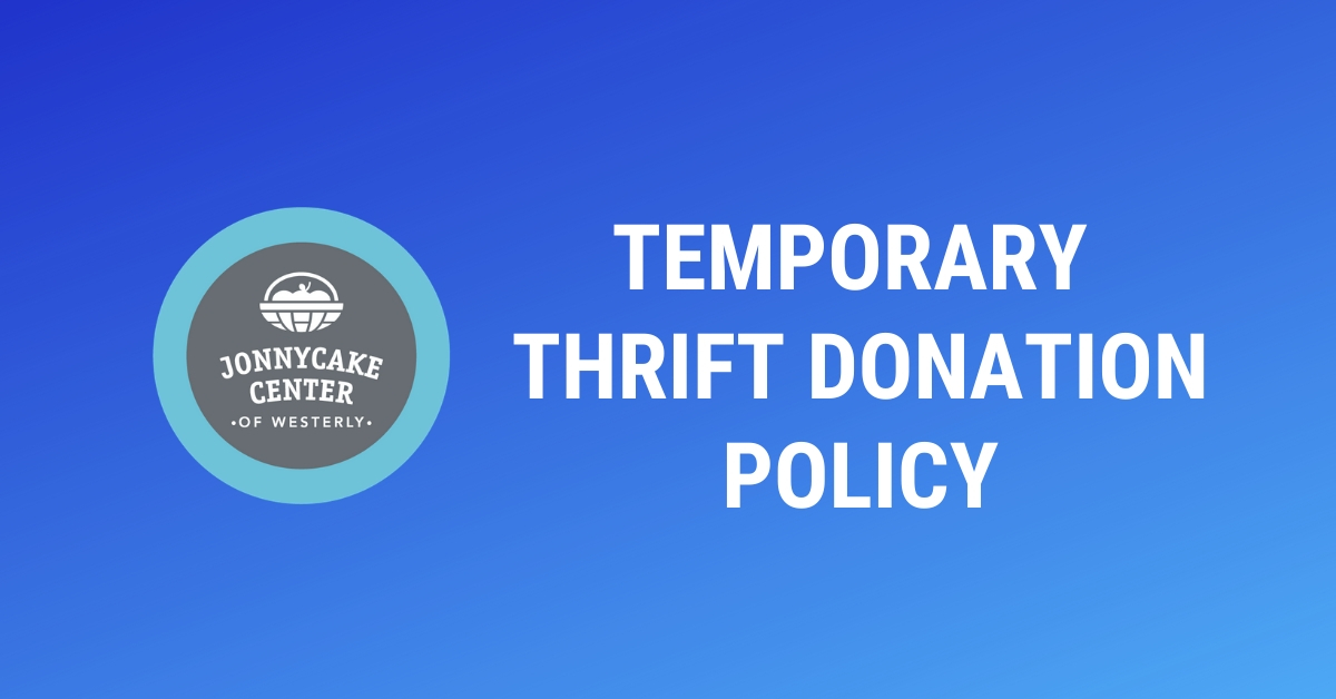 Temporary Thrift Donation Policy